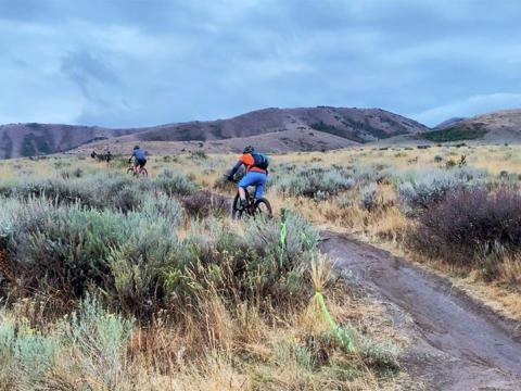아이다호주의 포커텔로 폴 울트라에서 산악자전거 여행